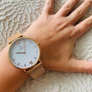 Other - Kapten & Son Campina Rose Gold Mesh Bracelet Watch